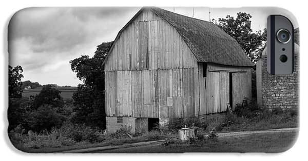 Shed iPhone Cases - Stormy Barn iPhone Case by Perry Webster