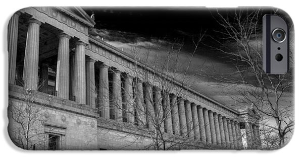 Soldier Field iPhone Cases - Stormy Soldier iPhone Case by David Bearden