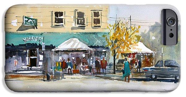 Fall Scenes iPhone Cases - Street Festival - Neshkoro iPhone Case by Ryan Radke