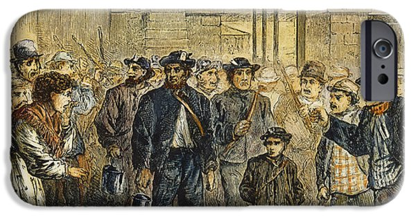 Protesters iPhone Cases - Striking Coal Miners, 1871 iPhone Case by Granger