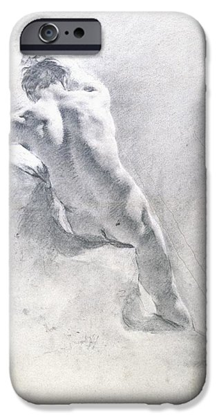 Anatomical iPhone Cases - Study of a male nude iPhone Case by  Giambattista Piazzetta
