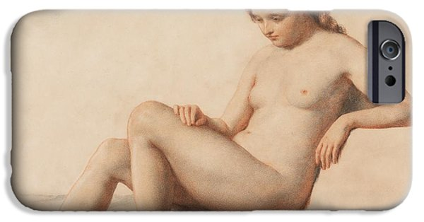 Female Body iPhone Cases - Study of a Nude iPhone Case by William Mulready