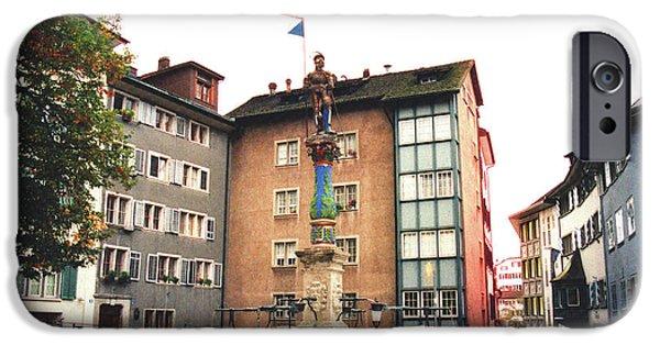 Guild iPhone Cases - Stuessihofstatt Zurich Switzerland iPhone Case by Susanne Van Hulst