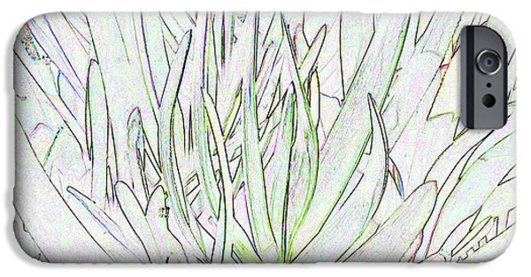 Succulent Leaves In High Key IPhone 6 Case