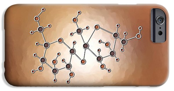 Hydrogen Paintings iPhone Cases - Sugar Molecule iPhone Case by Pet Serrano