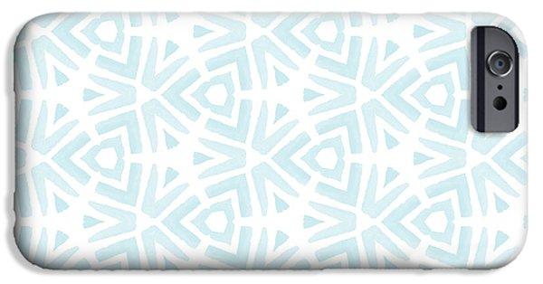 Blue iPhone 6 Case - Summer Splash- Pattern Art By Linda Woods by Linda Woods