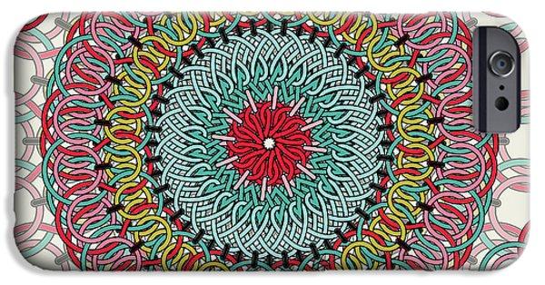 Dissing iPhone 6 Case - Sunflower Mandala by Mark Ashkenazi