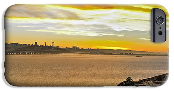 Bay Bridge iPhone Cases - Sunset Bay iPhone Case by Kelley King