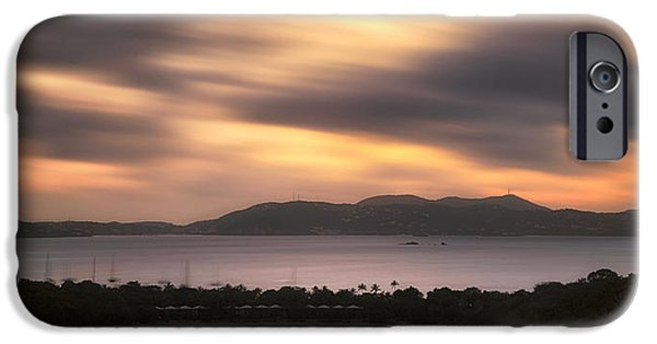 IPhone 6 Case featuring the photograph Sunset Over St. John And St. Thomas Panoramic by Adam Romanowicz