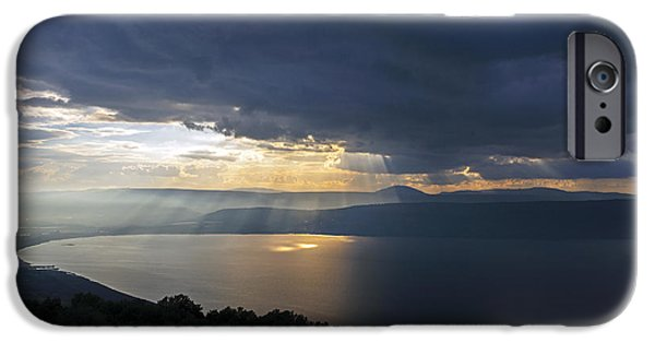 Sunset Over The Sea Of Galilee IPhone 6 Case by Dubi Roman