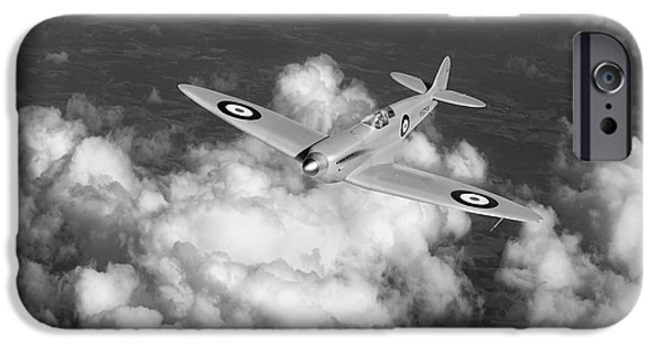 IPhone 6 Case featuring the photograph Supermarine Spitfire Prototype K5054 Black And White Version by Gary Eason
