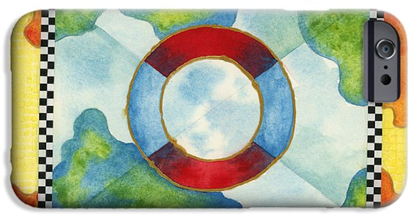 Raft iPhone Cases - Surviving Global Warming iPhone Case by Amy Kirkpatrick