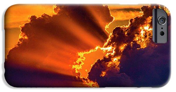 Nebraskasc iPhone 6 Case - Sweet Nebraska Crepuscular Rays 010 by NebraskaSC