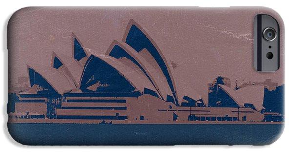Australia Digital iPhone Cases - Sydney Australia iPhone Case by Naxart Studio