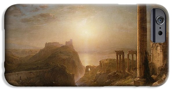 Leptis Magna iPhone Cases - Syria by the Sea iPhone Case by Frederic Edwin Church
