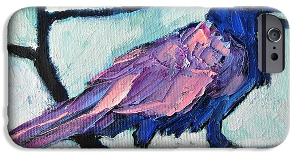 Crows iPhone Cases - Talkative Crow 1 iPhone Case by Ana Maria Edulescu