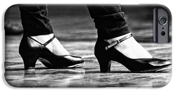 Tap iPhone Cases - Tap Shoes iPhone Case by Lauri Novak