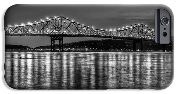 Hudson River iPhone Cases - Tappan Zee Bridge Twilight III iPhone Case by Clarence Holmes
