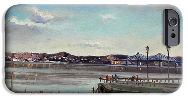 Hudson River iPhone Cases - Tarrytown View iPhone Case by Ylli Haruni