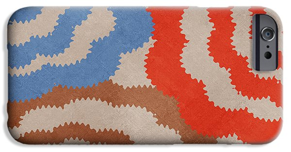 IPhone 6 Case featuring the mixed media Taupe Ring Pattern by Christina Rollo
