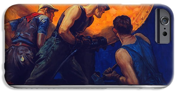 Ww1 iPhone Cases - Teamwork Builds Ships iPhone Case by War Is Hell Store