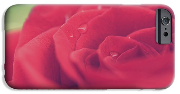 Rose Petals iPhone Cases - Tears of Love iPhone Case by Laurie Search