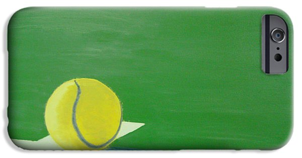 French Open Paintings iPhone Cases - Tennis Reflections iPhone Case by Ken Pursley