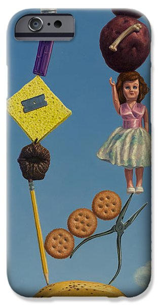 Doll iPhone Cases - Tenuous Still-Life 2 iPhone Case by James W Johnson