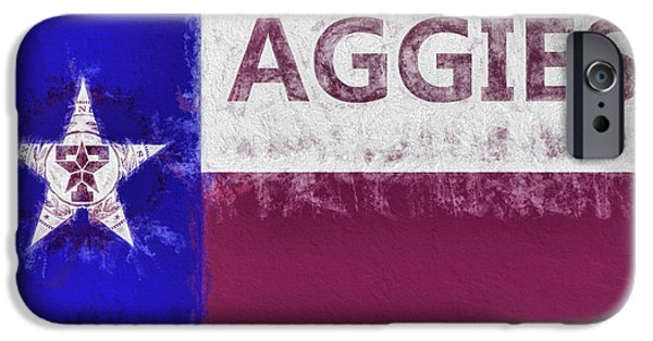 IPhone 6 Case featuring the digital art Texas Aggies State Flag by JC Findley