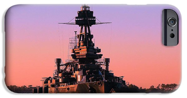 Battleship iPhone Cases - Texas proud iPhone Case by Arthur Herold Jr