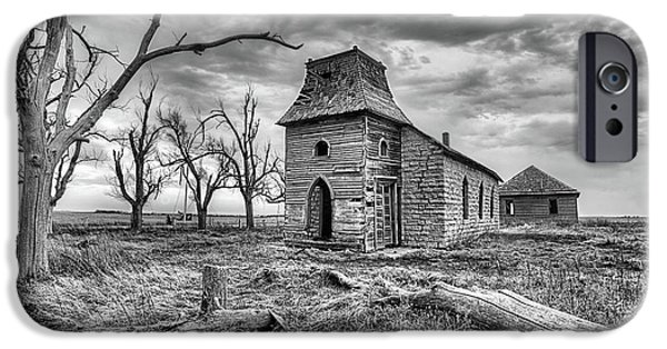 IPhone 6 Case featuring the photograph That Old Time Religion Black And White by JC Findley