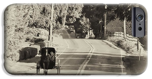 The Horse iPhone Cases - The Amish Buggy iPhone Case by Bill Cannon
