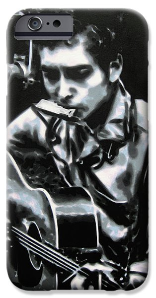 Swing Paintings iPhone Cases - The answer my friend is blowin in the wind iPhone Case by Luis Ludzska