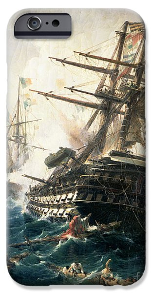 Best Sellers -  - Pirate Ship iPhone Cases - The Battle of Lissa iPhone Case by Constantin Volonakis