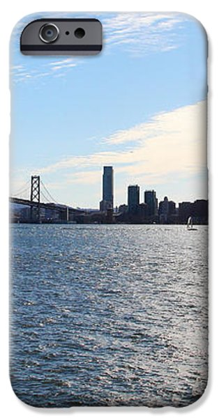The Bay Bridge and The San Francisco Skyline Viewed From Treasure Island . 7D7771 iPhone Case by Wingsdomain Art and Photography