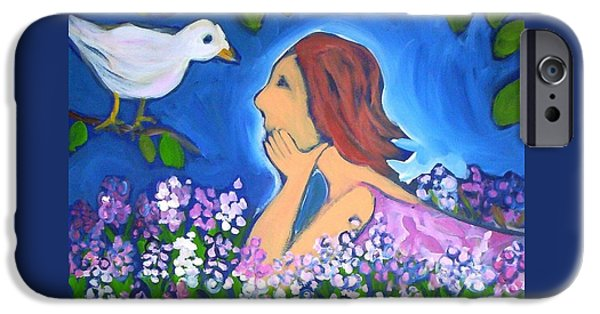 IPhone 6 Case featuring the painting The Bird by Winsome Gunning