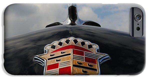 Lee Dos Santos iPhone Cases - The Black Cadillac Angel - Cadillac Emblem  iPhone Case by Lee Dos Santos