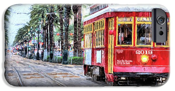 IPhone 6 Case featuring the photograph The Canal Street Streetcar by JC Findley