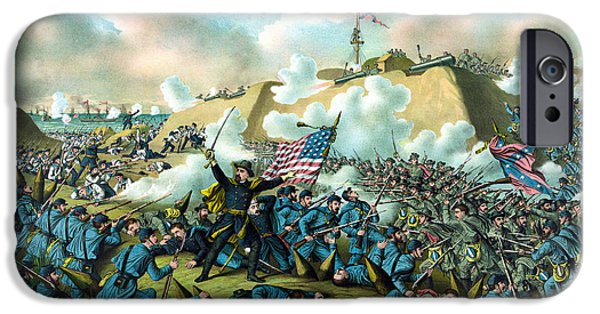 History iPhone Cases - The Capture of Fort Fisher iPhone Case by War Is Hell Store