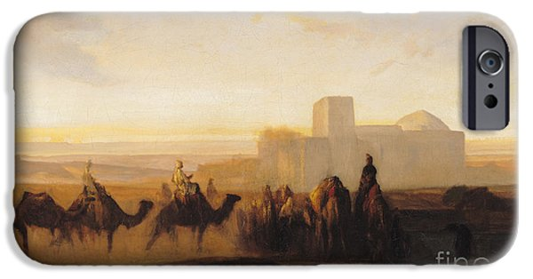 Middle East iPhone Cases - The Caravan iPhone Case by Alexandre Gabriel Decamps
