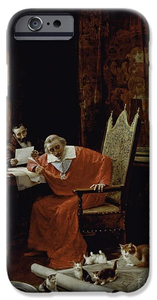 Sit-ins iPhone Cases - The Cardinals Leisure  iPhone Case by Charles Edouard Delort