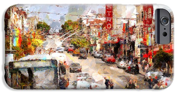 Bay Area Digital iPhone Cases - The Castro in San Francisco . 7D7573 iPhone Case by Wingsdomain Art and Photography