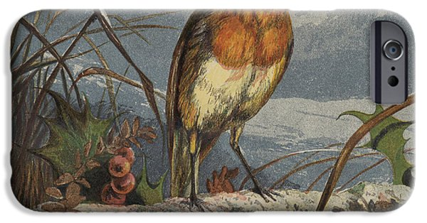 red robin iphone 6 case the christmas carol singer by harrison william weir - Is Red Robin Open On Christmas