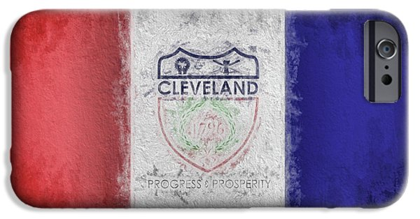 IPhone 6 Case featuring the digital art The Cleveland City Flag by JC Findley