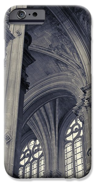 The Columns Of Saint-eustache, Paris, France. IPhone 6 Case by Richard Goodrich