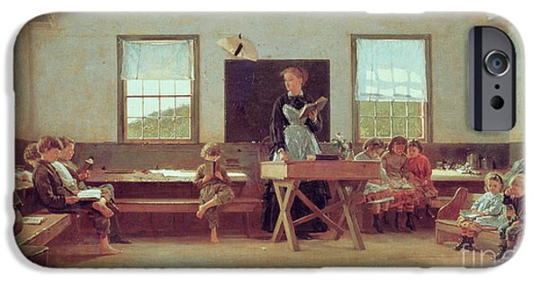Rural Schools iPhone Cases - The Country School iPhone Case by Winslow Homer