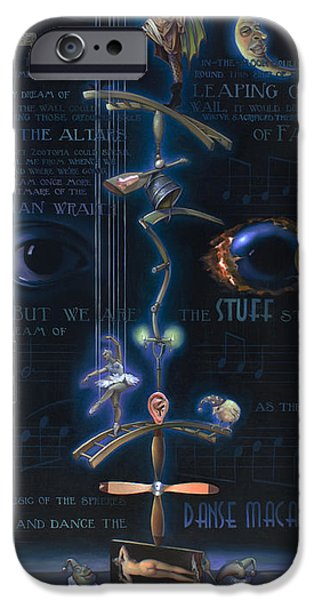 Paddle iPhone Cases - The Danse Macabre iPhone Case by Patrick Anthony Pierson