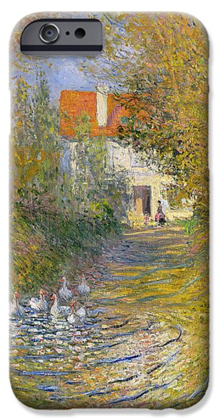 Ducks iPhone Cases - The Duck Pond iPhone Case by Claude Monet