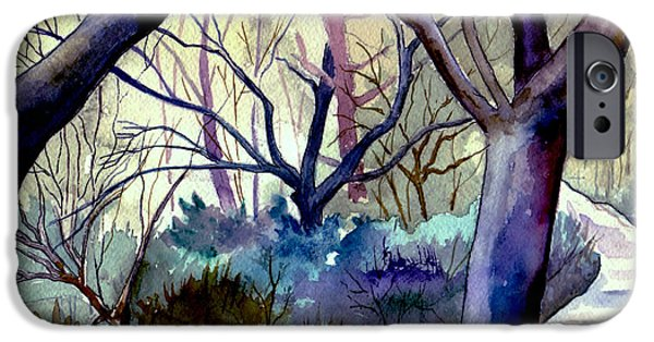 Forest iPhone Cases - The Enchanted Path iPhone Case by Brenda Owen