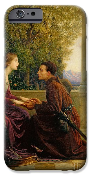 Pre-raphaelites iPhone Cases - The End of the Quest iPhone Case by Sir Frank Dicksee
